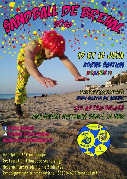 Affiche Sandball Bréhal 2019